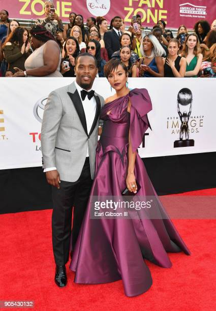 Tommicus Walker and LeToya Luckett at the 49th NAACP Image Awards on January 15 2018 in Pasadena California