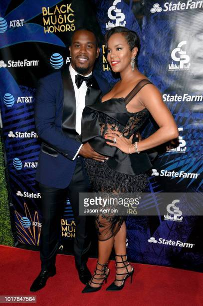 Tommicus Walker and LeToya Luckett attend the 2018 Black Music Honors at Tennessee Performing Arts Center on August 16 2018 in Nashville Tennessee