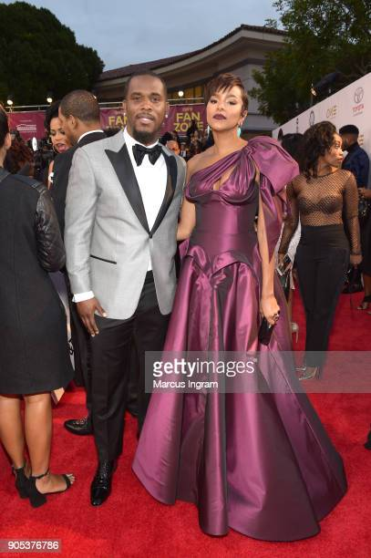 Tommicus Walker and LeToya Luckett attend the 49th NAACP Image Awards at Pasadena Civic Auditorium on January 15 2018 in Pasadena California