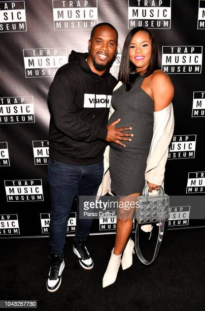 Tommicus Walker and singer/actress LeToya Luckett attend Trap Music Museum VIP Preview at Trap Music Museum on September 29 2018 in Atlanta Georgia