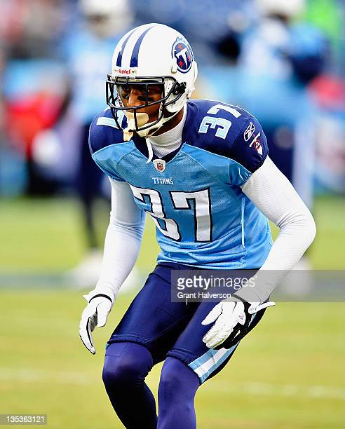 Tommie Campbell of the Tennessee Titans during play against the Tampa Bay Buccaneers at LP Field on November 27 2011 in Nashville Tennessee The...