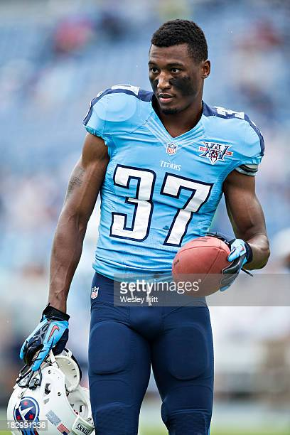 Tommie Campbell of the Tennessee Titans warming up before a game against the New York Jets at LP Field on September 29 2013 in Nashville Tennessee...