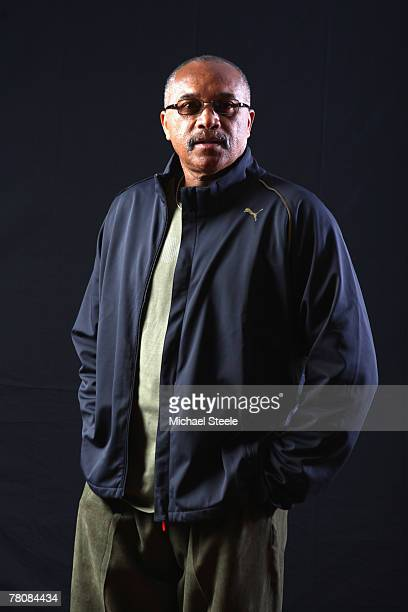 Tommie Smith of USA gold medallist in 200m and 400m from the 1968 Mexico Olympic Games poses for a portrait during the IAAF World Athletics Gala at...