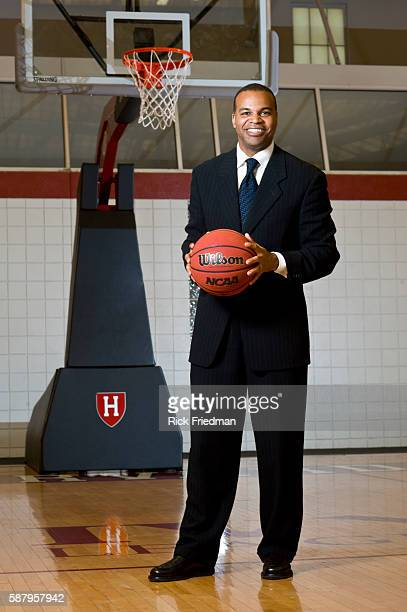 Tommy Amaker, head coach of the Harvard University men's basketball team at the LaVietes Pavilion at the Harvard University sports complex in Boston,...
