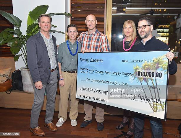 Tommy Bahama Sports Marketing and Licensed Product Project manager Marc Jensen Cystic Fibrosis patient Sean Squires professional football player Josh...