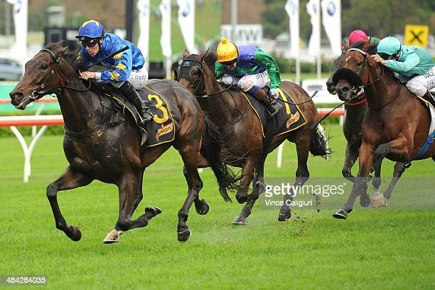 Tommy Berry riding The Offer winning Race 4 the Schweppes Chairmans Handicap during day one of The Championships at Royal Randwick Racecourse on...