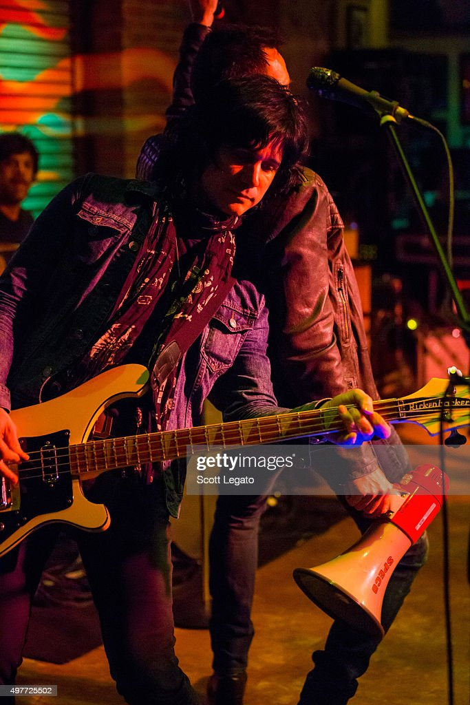 Tommy Black of Scott Weiland and the Wildabouts performs at Hard Rock Cafe - Detroit on November 14, 2015 in Detroit, Michigan.
