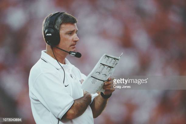 Tommy Bowden Head Coach for the Clemson University Tigers calls the play during the NCAA Atlantic Coast Conference college football game against the...