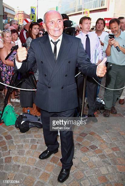 Tommy Cannon attends Bernie Nolan's funeral at Grand Theatre on July 17 2013 in Blackpool England