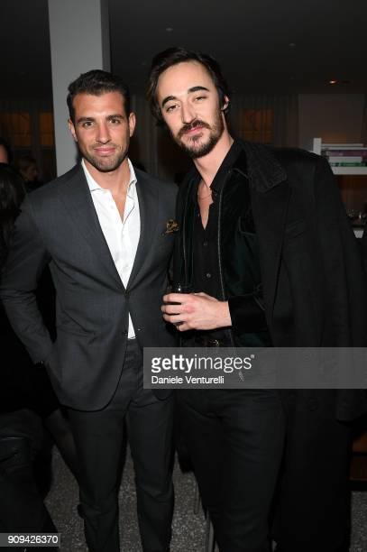 Tommy Chiabra and Daniele Cavalli attend Mene 24 Karat Jewelry Presentation at Gagosian Gallery on January 23 2018 in Paris France