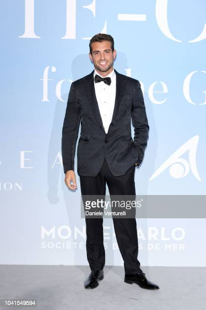 Tommy Chiabra attends the Gala for the Global Ocean hosted by HSH Prince Albert II of Monaco at Opera of MonteCarlo on September 26 2018 in...