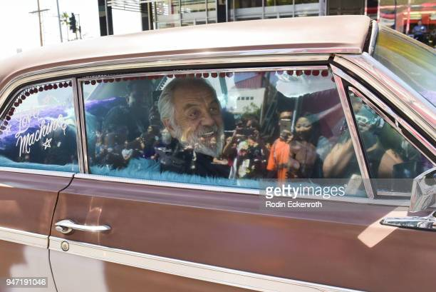 Tommy Chong and Cheech Marin arrive at the Key to The City of West Hollywood Award Ceremony at The Roxy Theatre on April 16 2018 in West Hollywood...