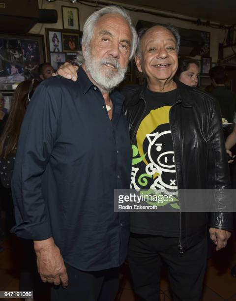 Tommy Chong and Cheech Marin pose for portrait at the Key to The City of West Hollywood Award Ceremony at The Roxy Theatre on April 16 2018 in West...