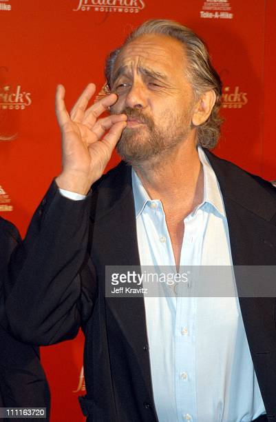 Tommy Chong during Frederick's of Hollywood Debuts Fall 2003 Collection at Smashbox Studios in Culver City CA United States