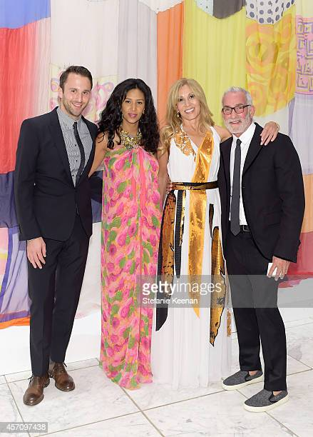 Tommy Clements Gelila Puck Rosette Delug and Waldo Fernandez attend the Hammer Museum's 12th annual Gala in the Garden with generous support from...