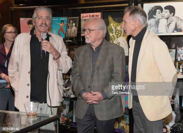 Tommy Cole Johnny Crawford and Paul Petersen attend 'ANNETTE America's Girl Next Door and the Queen of Teen exhibit opening night preview at The...