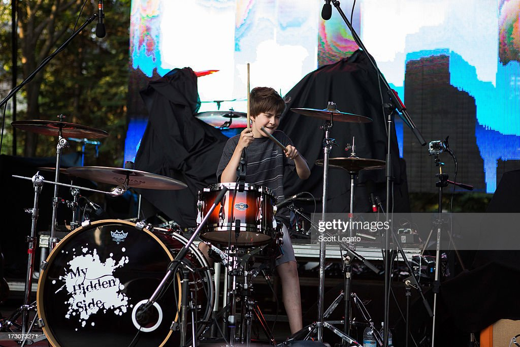 Tommy Cornellier of My Hidden Self performs during the Quebec Festival D'ete on July 5, 2013 in Quebec City, Canada.
