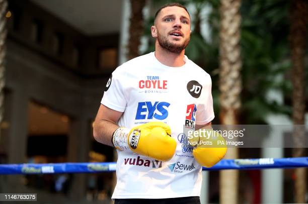 Tommy Coyle during the public workout at the Brookfield Place New York