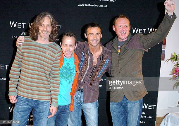 Tommy Cunningham Graeme Clark Marti Pellow and Neil Mitchell of Wet Wet Wet