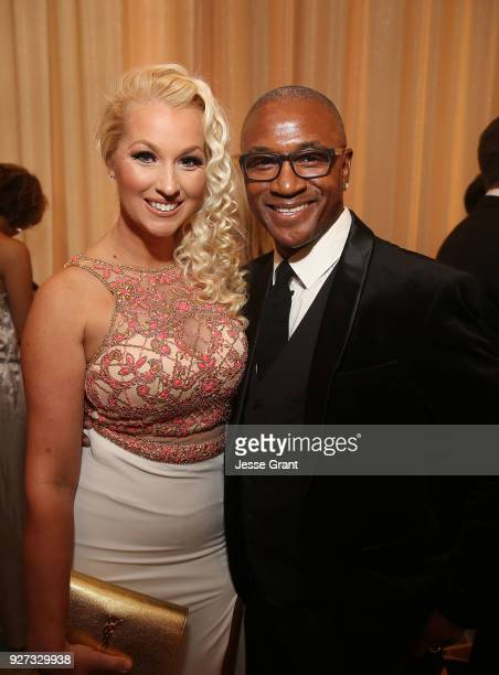 Tommy Davidson and Amanda Moore attend Byron Allen's Oscar Gala Viewing Party to Support The Children's Hospital Los Angeles at the Beverly Wilshire...