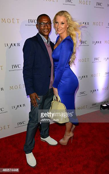 Tommy Davidson and Amanda Moore attend IWC Schaffhausen And DuJour Magazine's Jason Binn Celebrate 'Timeless Portofino' During Art Basel Miami Beach...