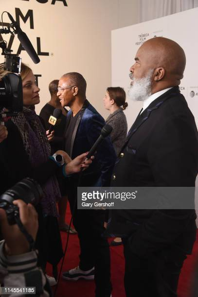 Tommy Davidson and David Alan Grier attend the Tribeca TV 'In Living Color' 25th anniversary reunion during the 2019 Tribeca Film Festival at Spring...