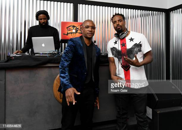 Tommy Davidson and Shawn Wayans at the 25th Anniversary of In Living Color After Party at the Bulleit 3D Printed Frontier Lounge at the Tribeca Film...