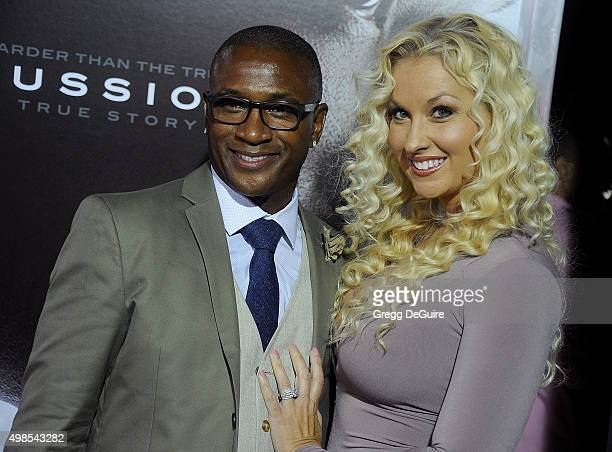 Tommy Davidson and wife Amanda Davidson arrive at the screening of Columbia Pictures' Concussion at Regency Village Theatre on November 23 2015 in...