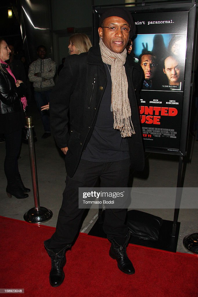 Tommy Davidson attends the 'A Haunted House' Los Angeles premiere held at the ArcLight Hollywood on January 3, 2013 in Hollywood, California.
