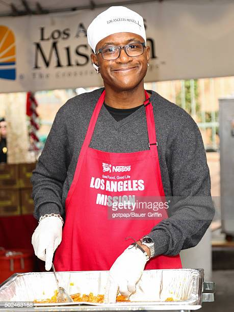 Tommy Davidson is seen at the annual Los Angeles Mission Christmas Dinner on December 24 2015 in Los Angeles California