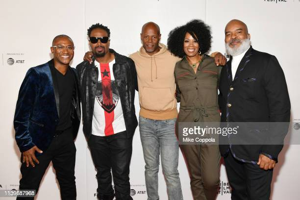 Tommy Davidson Shawn Wayans Keenen Ivory Wayans Kim Wayans and David Alan Grier attend the Tribeca TV In Living Color 25th Anniversary Reunion during...