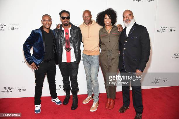 Tommy Davidson, Shawn Wayans, Keenen Ivory Wayans, Kim Wayans and David Alan Grier attend the Tribeca TV 'In Living Color' 25th anniversary reunion...