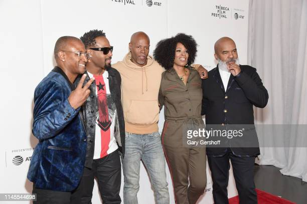Tommy Davidson Shawn Wayans Keenen Ivory Wayans Kim Wayans and David Alan Grier attend the Tribeca TV 'In Living Color' 25th anniversary reunion...