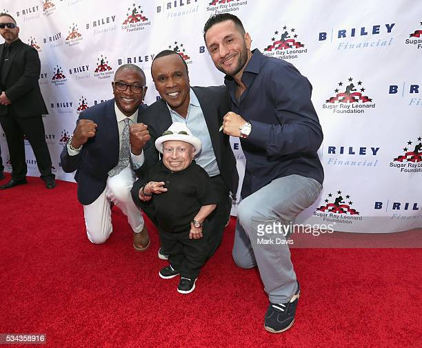 """Tommy Davidson, Verne Troyer, Sugar Ray Leonard and Sergio Mora attend B. Riley & Co. And Sugar Ray Leonard Foundation's 7th Annual """"Big Fighters,..."""