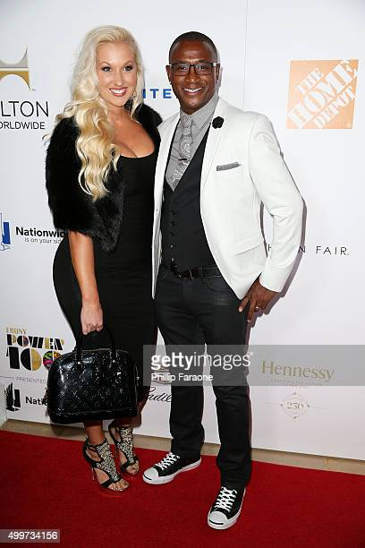 Tommy Davidson with wife Amanda Davidson attend Ebony Magazine's Power 100 Gala at The Beverly Hilton Hotel on December 2 2015 in Beverly Hills...