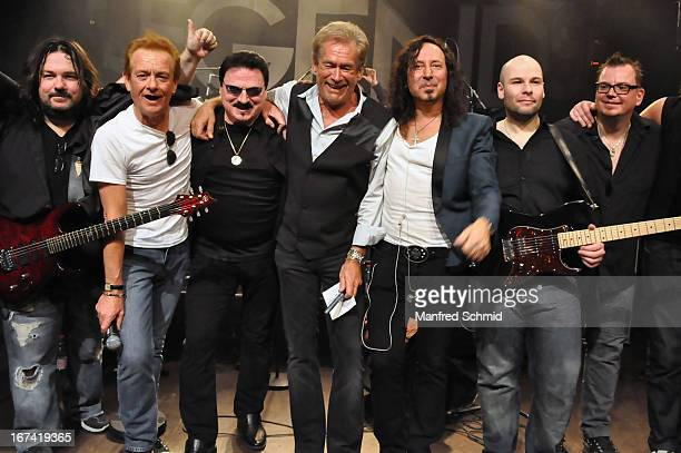 Tommy Denander Graham Bonnet Bobby Kimbal Bill Champlin Steve Augeri and Sayit Doelen perform onstage during the 30th anniversary party of Szene Wien...