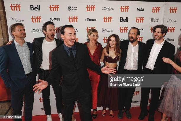 Tommy Dewey Mark O'Brien Chris Coy Ari Graynor Kaitlyn Dever Steve Zissis and Jason Reitman attend 'The Front Runner' premiere at Ryerson Theatre on...