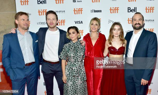 Tommy Dewey Mark O'Brien Molly Ephraim Ari Graynor Kaitlyn Dever Steve Zissis attend the 'The Front Runner' premiere during 2018 Toronto...