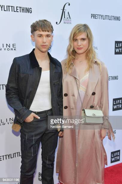Tommy Dorfman and Hari Nef attend The Daily Front Row's 4th Annual Fashion Los Angeles Awards at Beverly Hills Hotel on April 8 2018 in Beverly Hills...