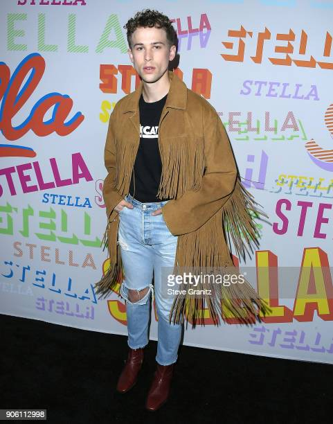 Tommy Dorfman arrives at the Stella McCartney's Autumn 2018 Collection Launch on January 16 2018 in Los Angeles California