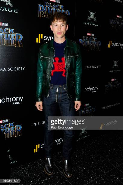 Tommy Dorfman attends The Cinema Society with Ravage Wines Synchrony host a screening of Marvel Studios' 'Black Panther' at The Museum of Modern Art...
