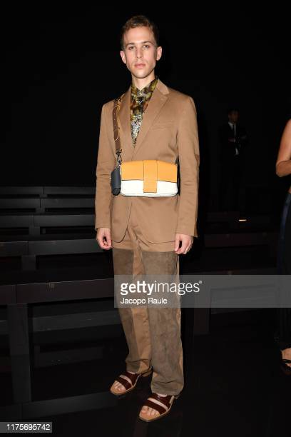 Tommy Dorfman attends the Fendi fashion show during the Milan Fashion Week Spring/Summer 2020 on September 19 2019 in Milan Italy
