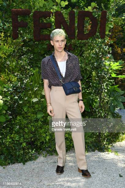 Tommy Dorfman attends the Fendi fashion show during the Milan Men's Fashion Week Spring/Summer 2020 on June 17 2019 in Milan Italy