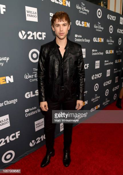 Tommy Dorfman attends the GLSEN Respect Awards at the Beverly Wilshire Four Seasons Hotel on October 19 2018 in Beverly Hills California