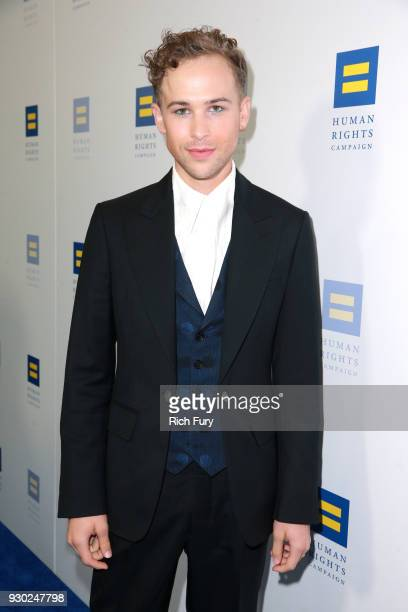 Tommy Dorfman attends The Human Rights Campaign 2018 Los Angeles Gala Dinner at JW Marriott Los Angeles at LA LIVE on March 10 2018 in Los Angeles...