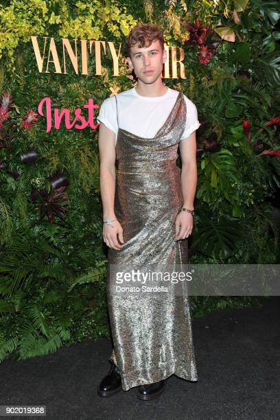 Tommy Dorfman attends Vanity Fair x Instagram Celebrate the New Class of Entertainers at Mel's Diner on Golden Globes Weekend at Mel's Diner on...