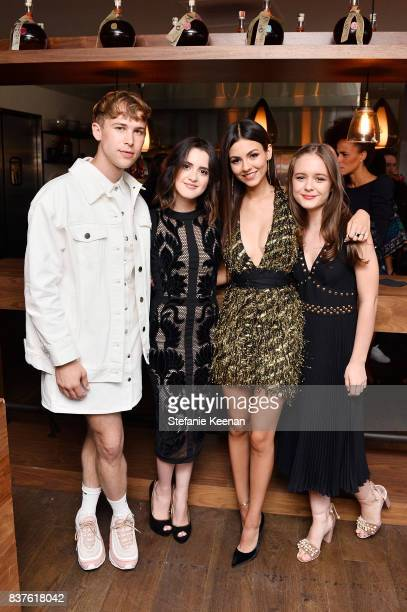 Tommy Dorfman Laura Marano Victoria Justice and Izabela Vidovic attend Nina Dobrev celebrates the harper by Harper's BAZAAR September Issue with an...