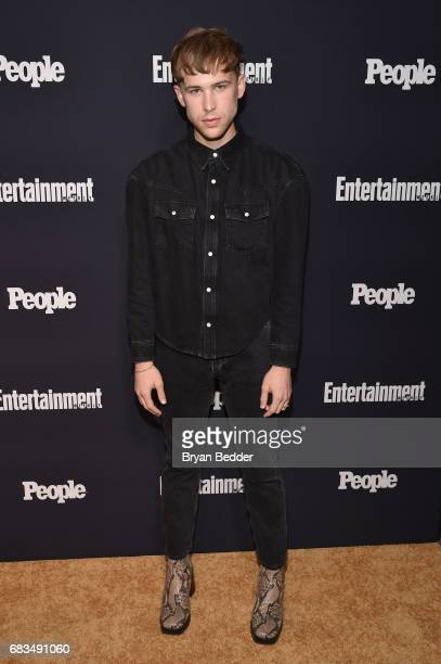 Tommy Dorfman of 13 Reasons Why attends the Entertainment Weekly and PEOPLE Upfronts party presented by Netflix and Terra Chips at Second Floor on...
