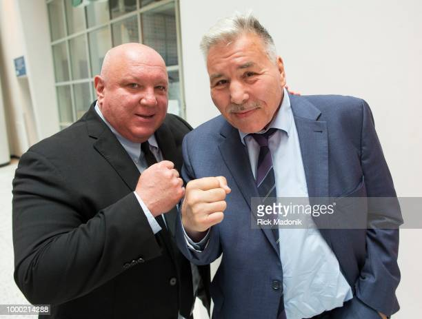 Tommy Doyle with his friend former boxing great George Chavalo at a boxing event at the CBC Headquarters The former champ is embattled in legal...