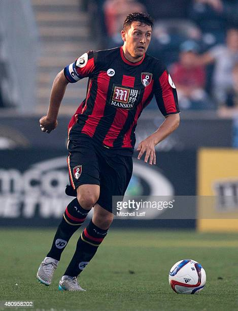 Tommy Elphick of AFC Bournemouth controls the ball in the friendly match against the Philadelphia Union on July 14 2015 at the PPL Park in Chester...